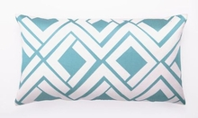 Trina Turk Blue & White Avenida Maze Pillow