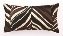 Trina Turk Tiger Leaf Embroidered Brown Pillow