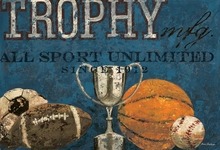 Trophy Mfg. All Sport in Blue Canvas Wall Art