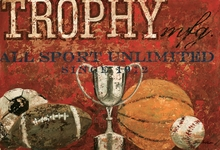 Trophy Mfg. All Sport in Red Canvas Wall Art