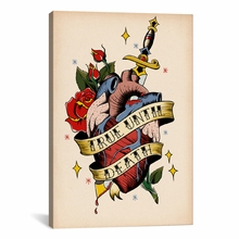 True Until Death Canvas Wall Art