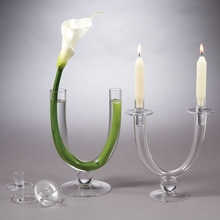 Tubular Vase and Candleholder