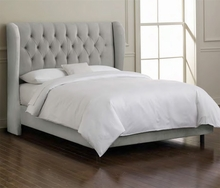 Tufted Wingback Upholstered Bed