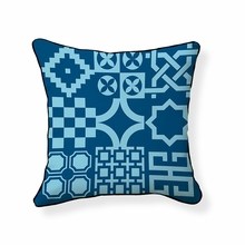 Turkish Tiles Reversible Throw Pillow