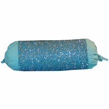 Turquoise Beaded Neck Roll Pillow