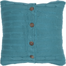 Turquoise Cable Knit Throw Pillow