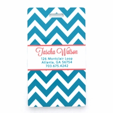 Turquoise Chevron Personalized Luggage Tag Set