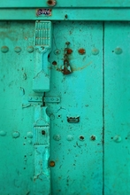 Turquoise Door Wall Art