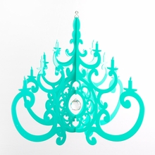 Turquoise Fancy Chandelier Mobile