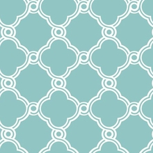 Turquoise Open Trellis Wallpaper
