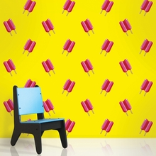 Twin Pops in Pink and Yellow Removable Wallpaper