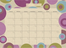 Twister Monthly Peel & Stick Dry-Erase Calendar