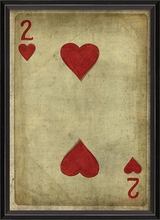 Two of Hearts Framed Wall Art