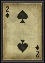 Two of Spades Framed Wall Art