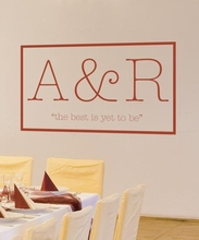 Typewritten Vow Wall Decal