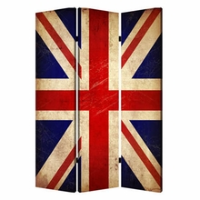 Union Jack 3 Panel Printed Canvas Screen