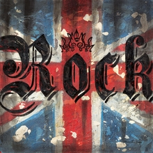 Union Jack Rock Canvas Wall Art