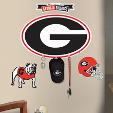 University of Georgia Peel & Stick Giant Wall Decal with Hooks