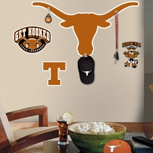 University of Texas Peel & Stick Giant Wall Decal with Hooks