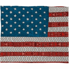 USA Fleece Throw Blanket