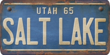 Utah Custom License Plate Art