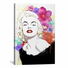 Va Va Voom Flower Color Pop Canvas Wall Art