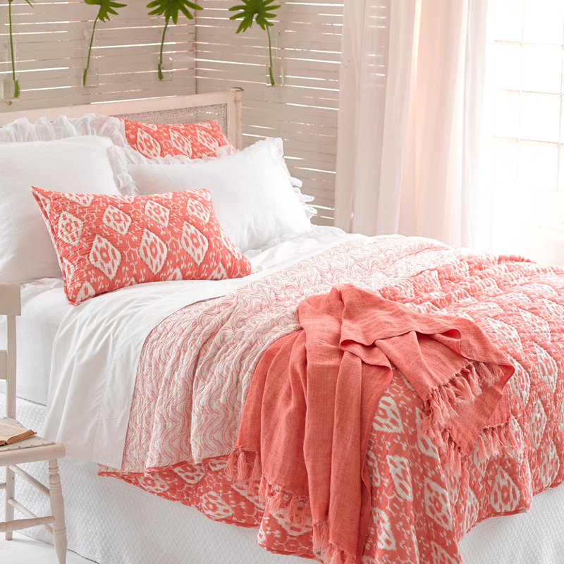 District17: Varkala Coral Quilt: Quilts & Coverlets : coral quilts - Adamdwight.com