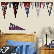 Varsity Pennants Wall Decals