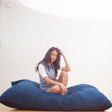Velivish Royal Blue Pillow Saxx Bean Bag - 6 Feet