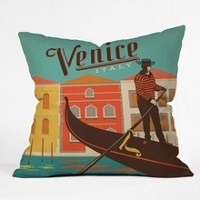 Venice 1 Throw Pillow