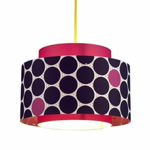 Venlo Paper Drum Pendant in Berry