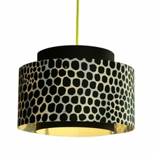 Venlo Paper Drum Pendant in Black