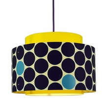 Venlo Paper Drum Pendant in Blue