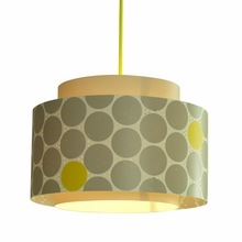 Venlo Paper Drum Pendant in Gray