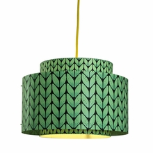 Venlo Paper Drum Pendant in Mint