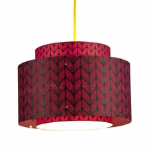 Venlo Paper Drum Pendant in Wine