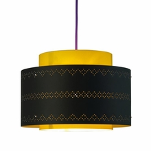 Venlo Paper Drum Pendant in Yellow