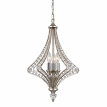 Ventoux Chandelier In Satin Silver