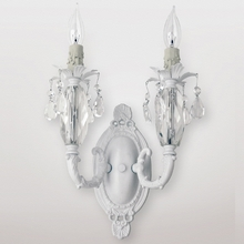 Venus Matte White Clear Crystal Double Wall Sconce