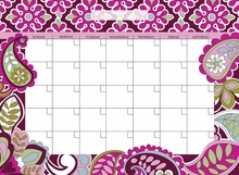 Very Berry Monthly Peel & Stick Dry-Erase Calendar