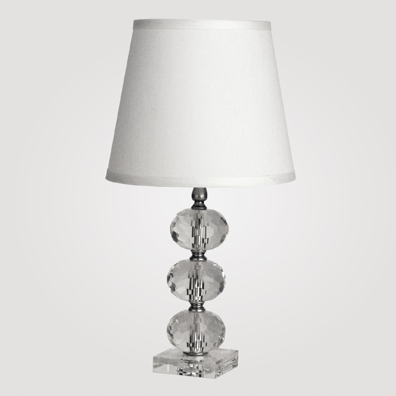 district17 vienna small clear crystal table lamp lamps. Black Bedroom Furniture Sets. Home Design Ideas