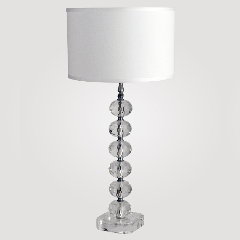 district17 vienna tall clear crystal table lamp lamps. Black Bedroom Furniture Sets. Home Design Ideas