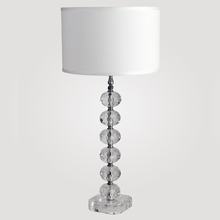 Vienna Tall Clear Crystal Table Lamp