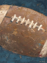 Vintage Football Blue Canvas Art