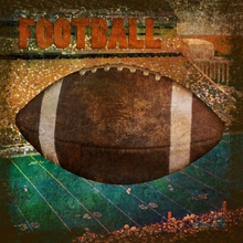 Vintage Football Canvas Wall Art