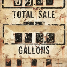 Vintage Gas Pump Canvas Wall Art
