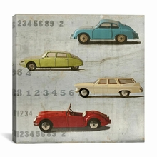 Vintage Photo Car Canvas Wall Art