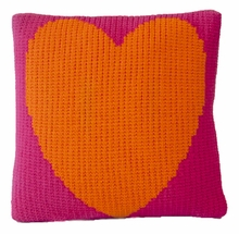 Vintage Pillow with Heart