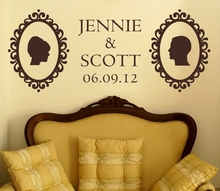 Vintage Wedding Silhouette Wall Decal