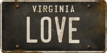 Virginia Custom License Plate Art